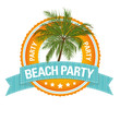 Button: Beach Party