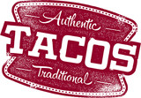 Authentic Mexican Restaurant Taco Sign