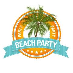 Button: Beach Party