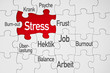Puzzle in Rot mit Stress