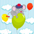 mouse on balloon
