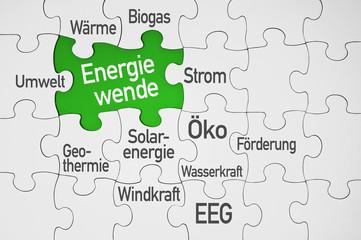 Puzzle mit Energiewende