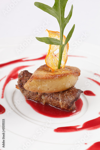 foie gras with sauce