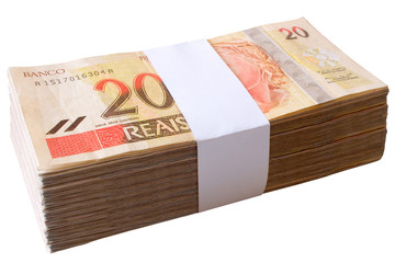 Bills, 20 Reais - Brazilian money.