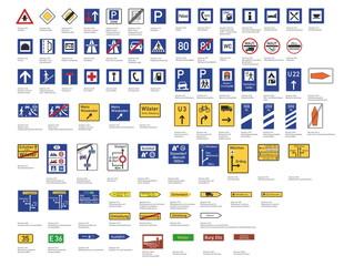 Verkehrszeichen - Richtzeichen - VZ 301 - 467