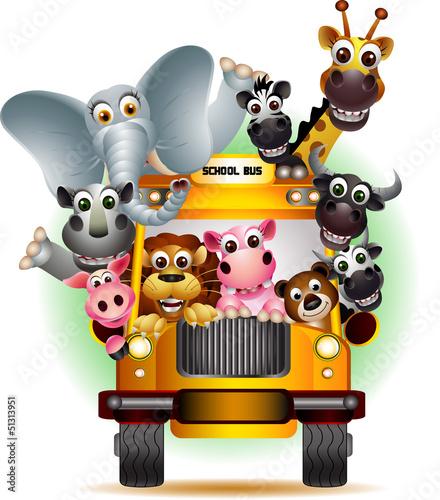 zwierzęta safari żółty samochód