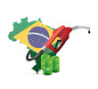 brazil alternative fuel with a gas pump nozzle