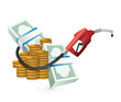 oil prices concept with a gas pump nozzle