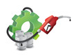 industrial gear with a gas pump nozzle