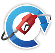 rotating cycle with a gas pump nozzle