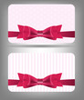 Card with bow and ribbon. Vector illustration