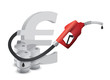 euro sign with a gas pump nozzle