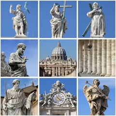 Urban scenes of the Vatican