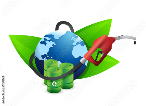 alternative oil concept with a gas pump nozzle
