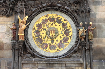 Prague Astronomical Clock in Prague, Czech Republic