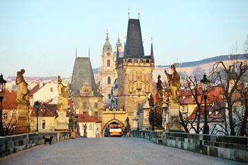 Charles Bridge and Lesser Town Tower, Prague
