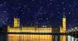 Stars over Big Ben and House of Parliament - Starry night in Lon