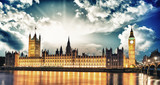 Fototapety Big Ben and House of Parliament at River Thames International La