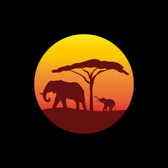 Logo Safari in Africa