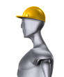 Metal Man With Protective Helmet