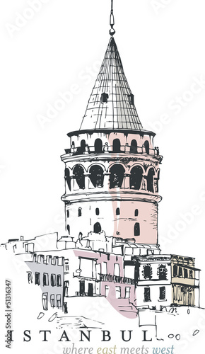 galata-turm-zeichnung