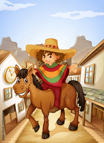 Młody człowiek z jego koń spacery na wsi