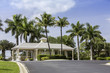 Entrance to gated community in Naples, Florida