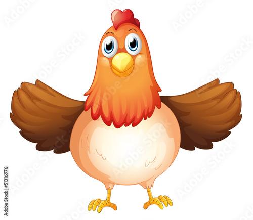 Foto op Canvas Boerderij A fat mother hen
