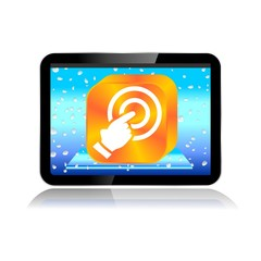 M-COMMERCE TABLET ICON touchscreen