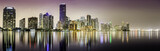 Miami downtown panorama at night