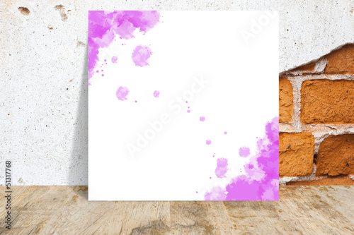 Paper with wall background and texture