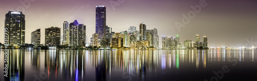 Miami downtown panorama at night|51317795