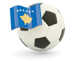 Football with flag of kosovo poster