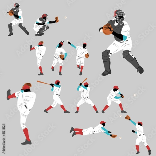 Baseball action play home run lots of pose and position action