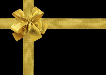 cadeau emballage noir noeud doré