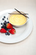 custard vanilla pastry cream and berries