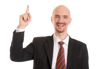 Geschäftsmann meldet sich