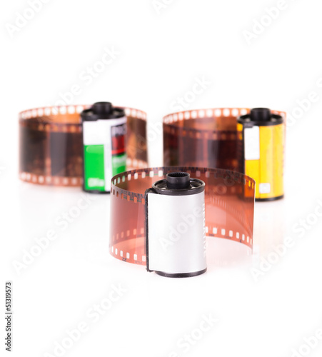 isolated roles of 35 mm negative film
