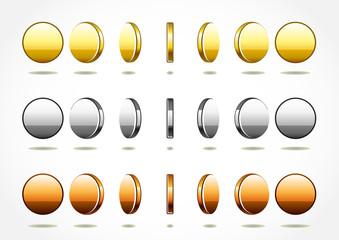 simple rotation coins