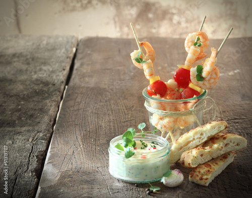Tasty shrimp appetizers