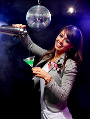 Pretty bartender