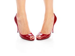 Red shoes (medium format image 60 megapixels)