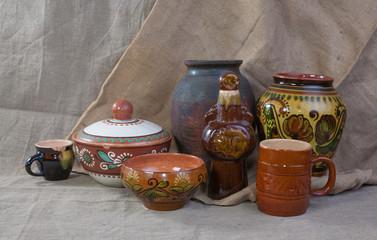 Still life of national pottery