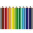 farbige Stifte in Reihe