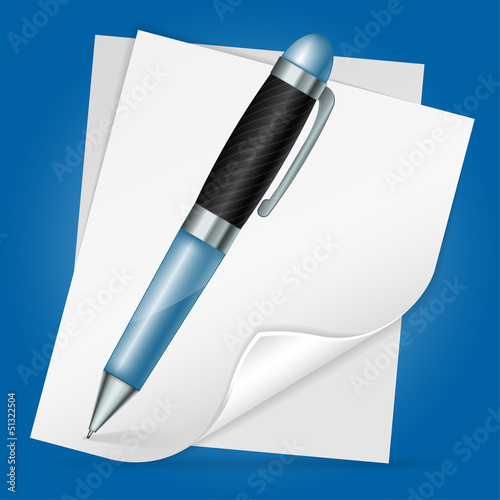 Pen with Sheet Paper