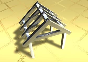 3D Grafik - Dachstuhl III