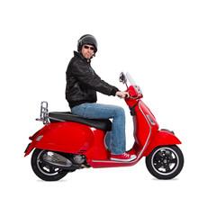 Homme en scooter