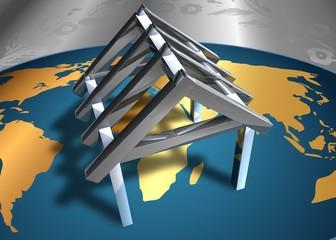 3D Grafik - Hausbau