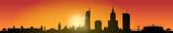 Skyline Warszawa Sunrise