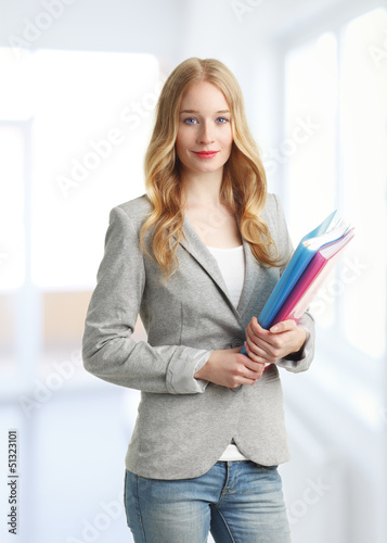 Pretty young business woman